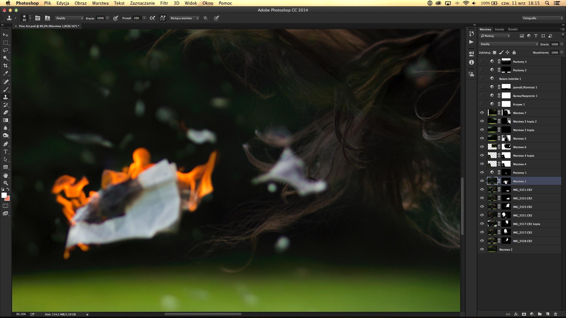Как в фотошопе сделать темнее фон