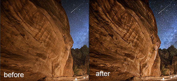 Post processing -before-after-detail-enhancer