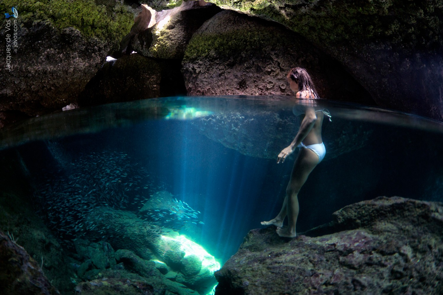 The Story Behind This Dreamy Underwater Cave Split-Shot