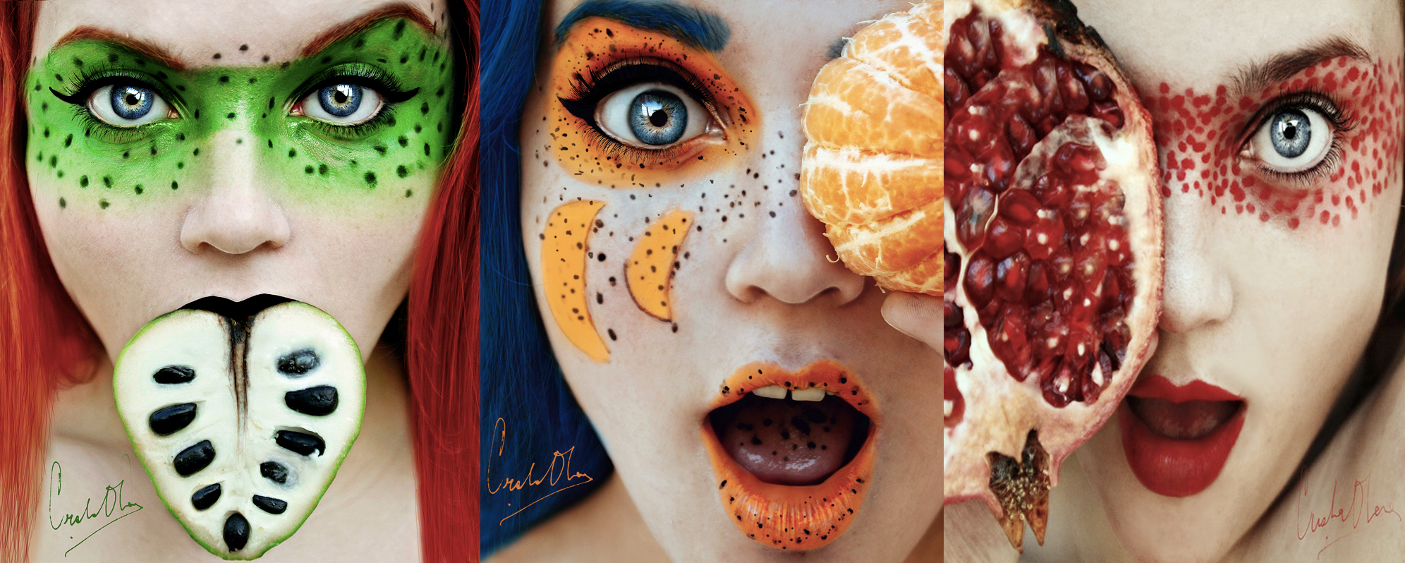 How To Shoot Colorful Self-Portraits With Fruit