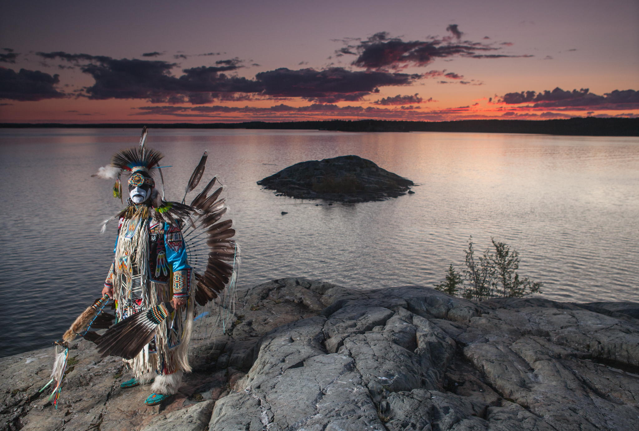 Photographer Captures Striking Seasonal Portraits Of An Indigenous Warrior