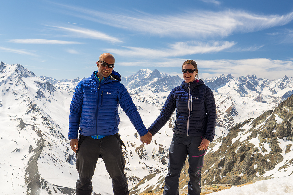 Espen Haagensen and his wife Monica at Haute Route