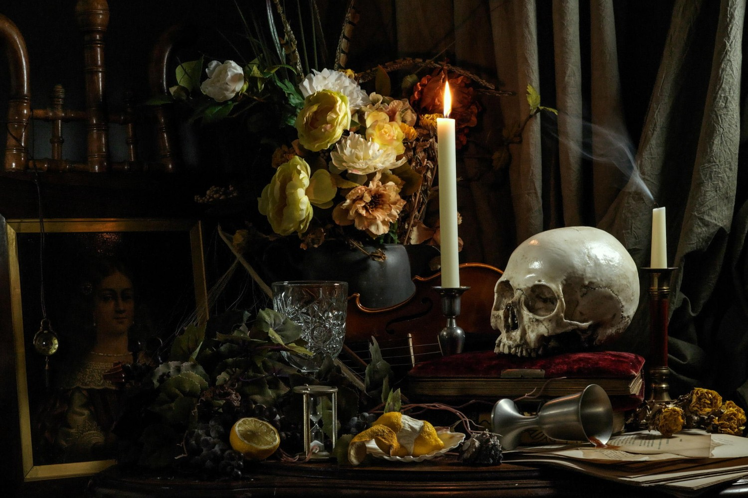 How To Create A 17th Century-Inspired Vanitas Still Life Photo