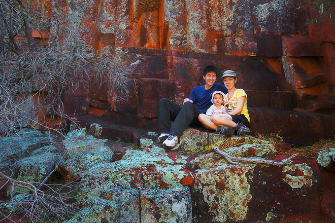 Photographer couple Dylan Toh and Marianne Lim with their baby