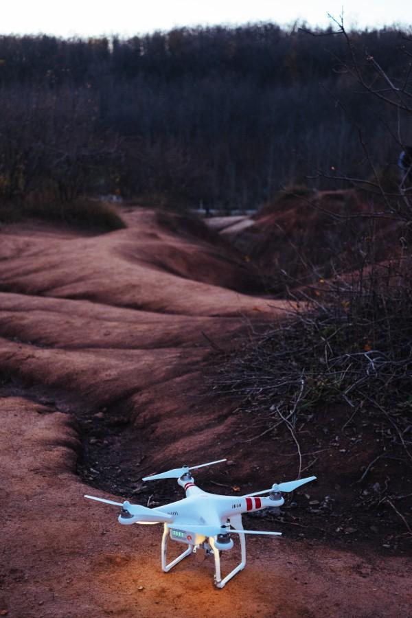 The drone awaits