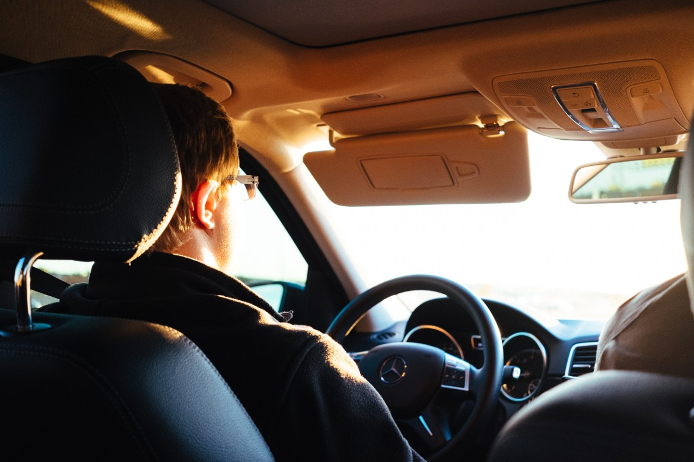 Evgeny driving