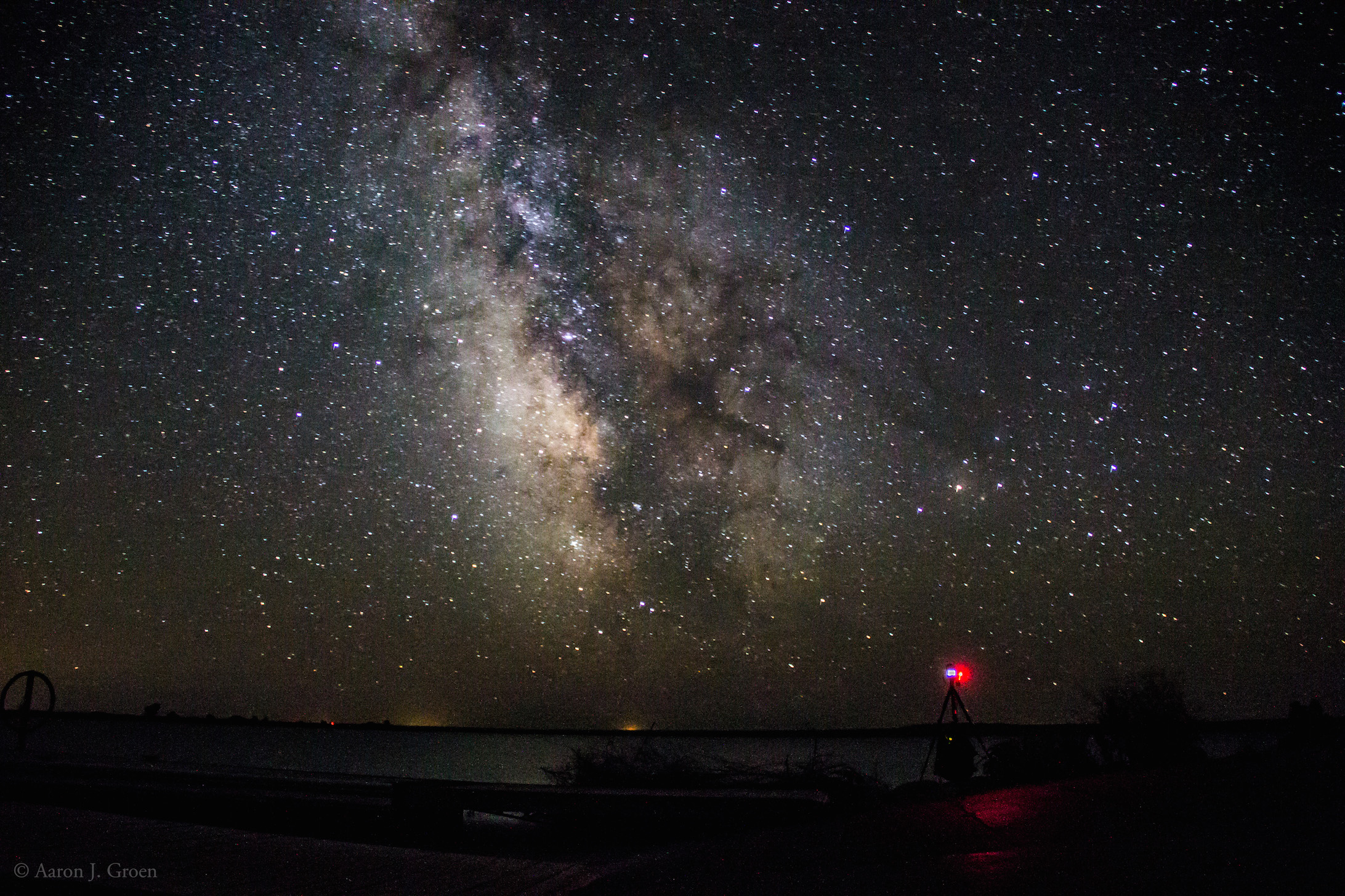 Canon 6D time-lapsing the milky way behind the scenes