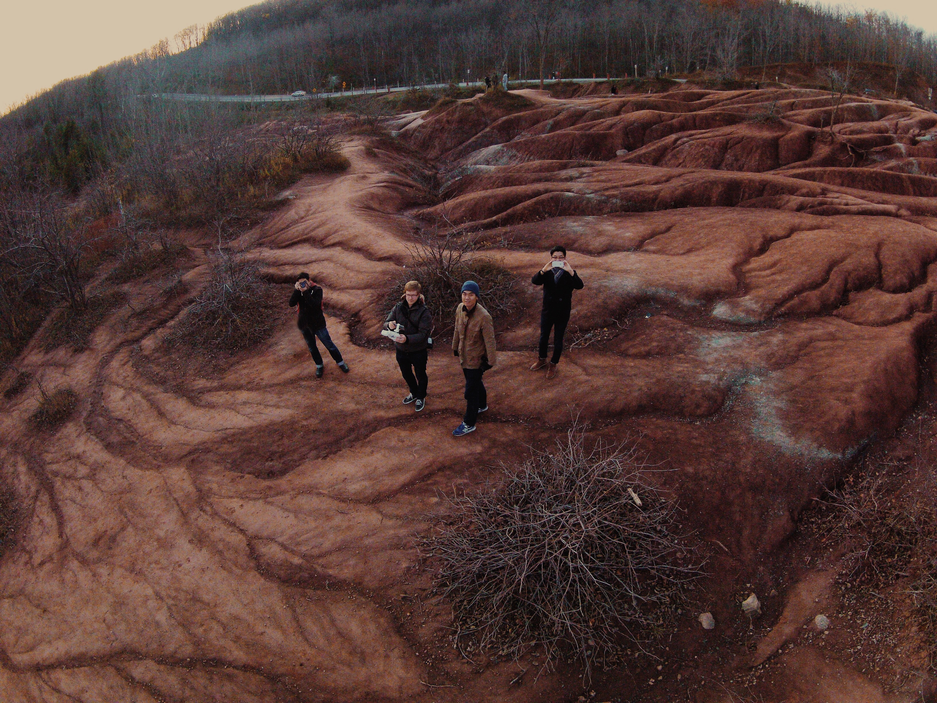 500px team, photographed by a camera drone