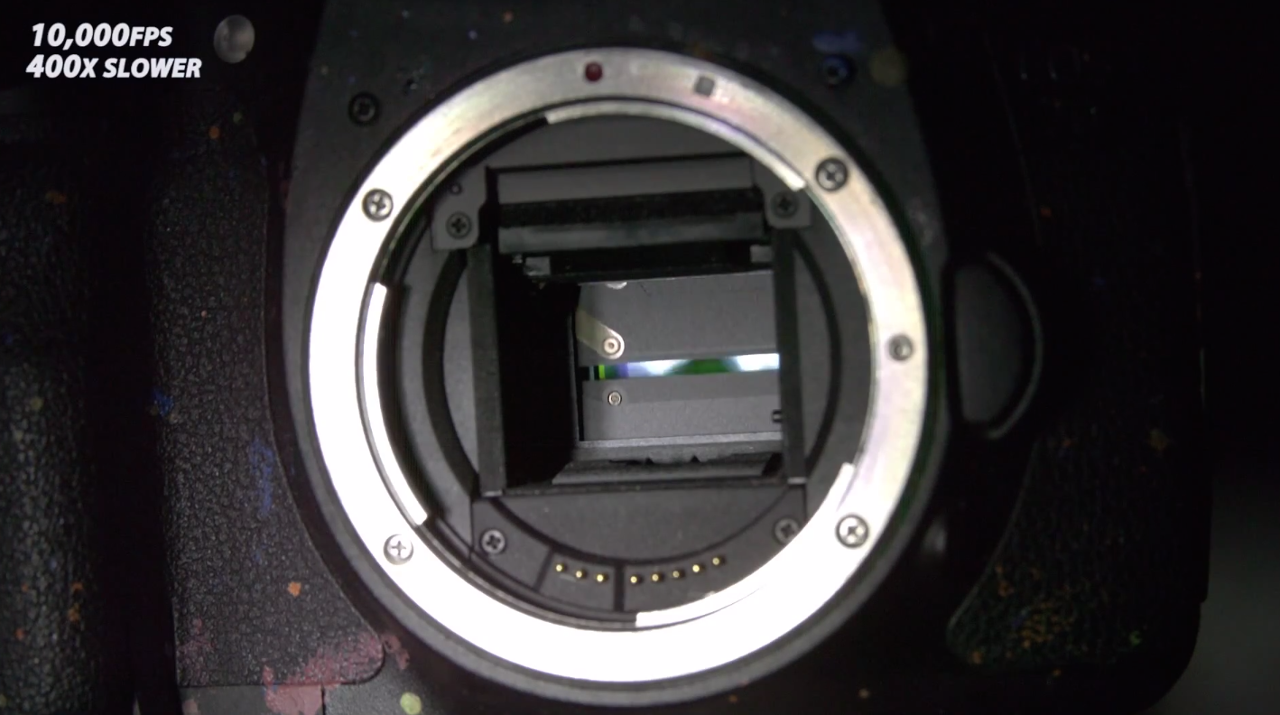 Fascinating Super Slow-Mo Video Reveals How a DSLR Camera Shutter Works