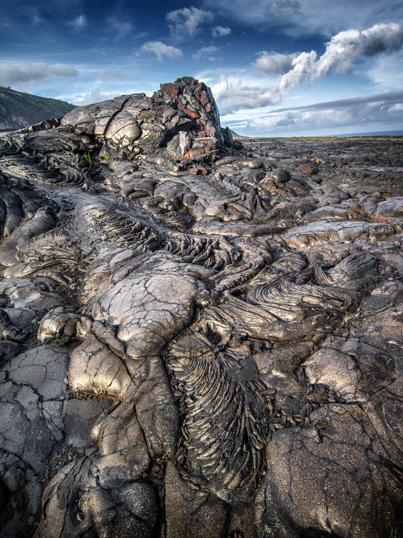 Lava field in the Big Island of Hawaii, Volcanoes National Park