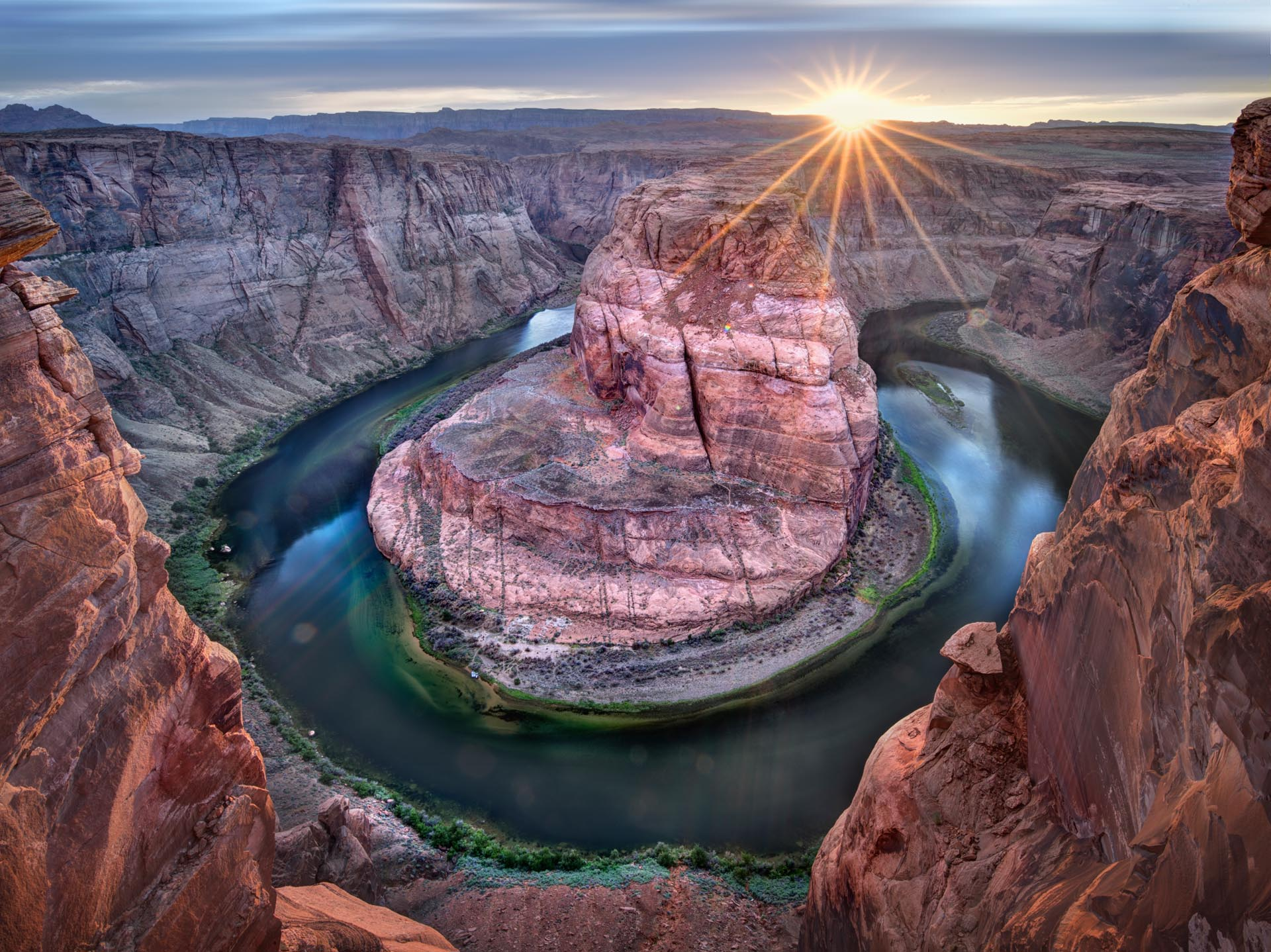 The Horseshoe Bend in the Colorado River, at Page, Arizona
