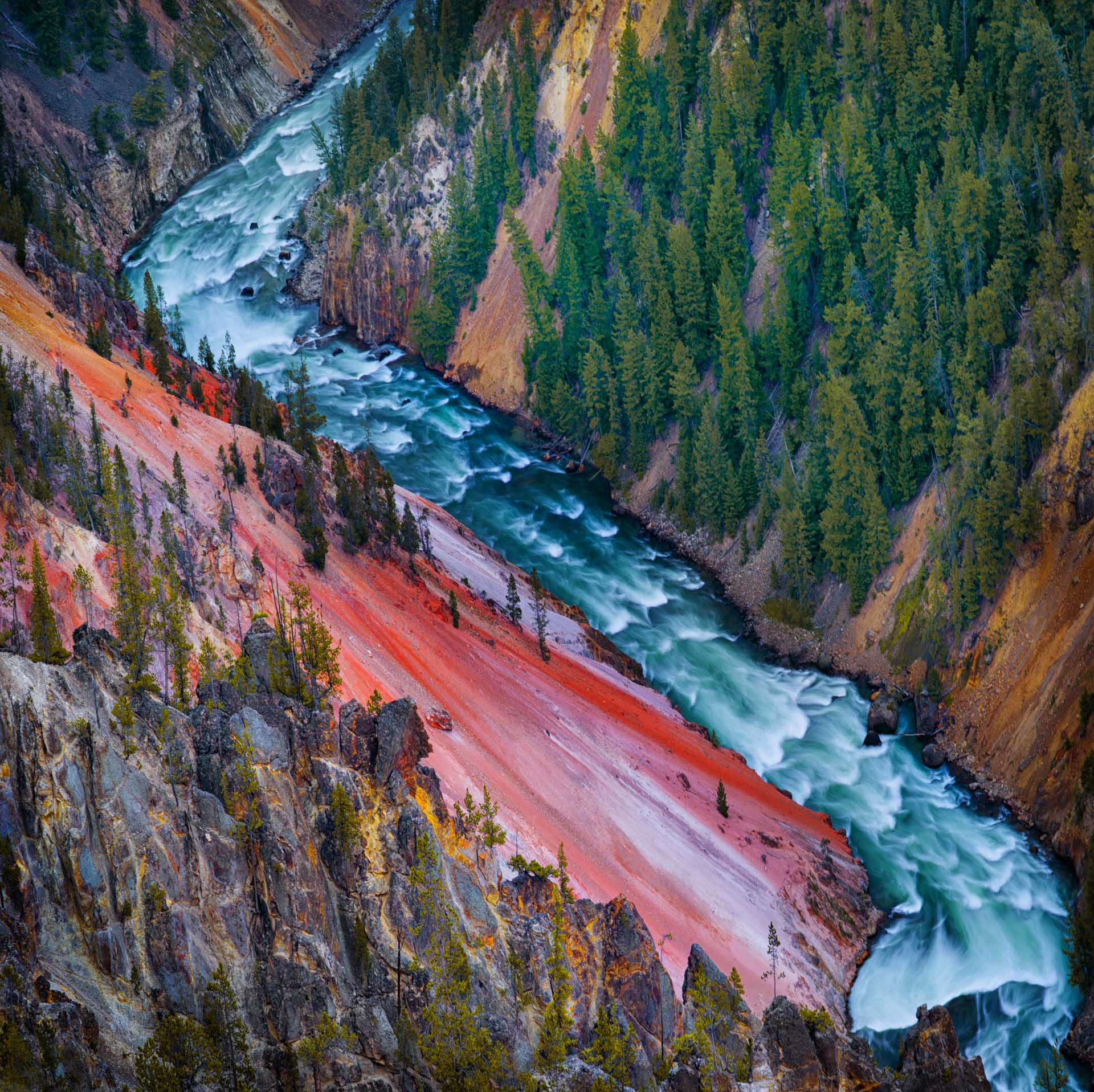 Yellowstone river Grand Canyon, Yellowstone National Park