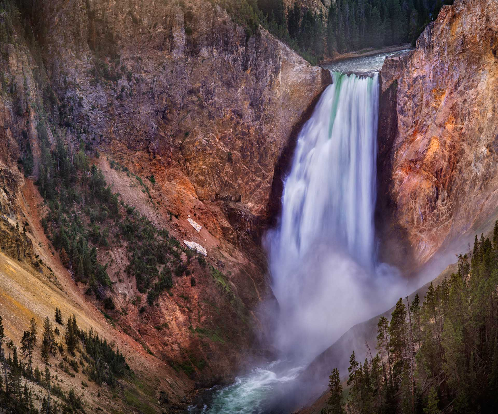 Lower falls view, Grand Canyon, Yellowstone National Park