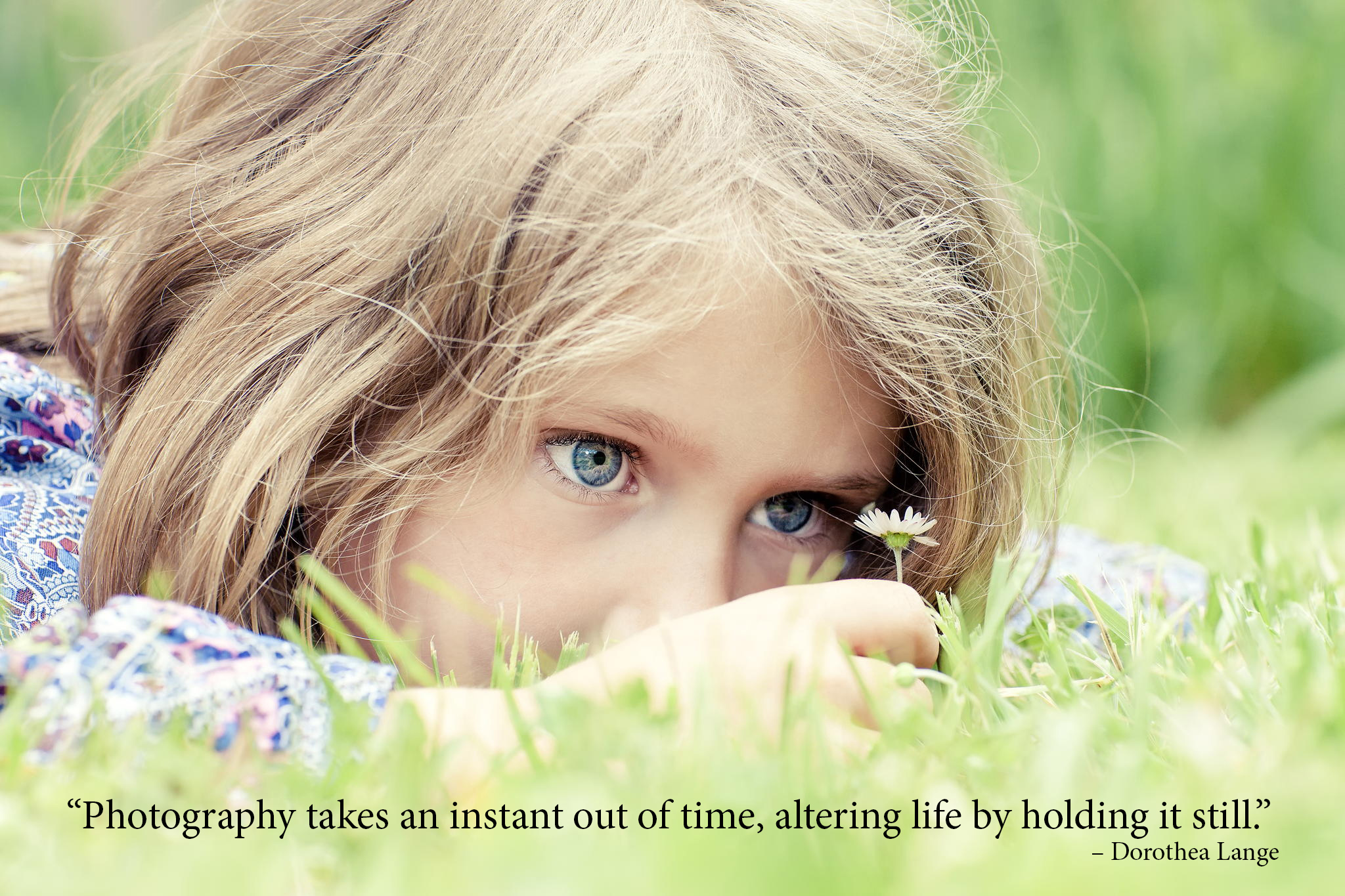 photography quotes -adorable girl lying on grass
