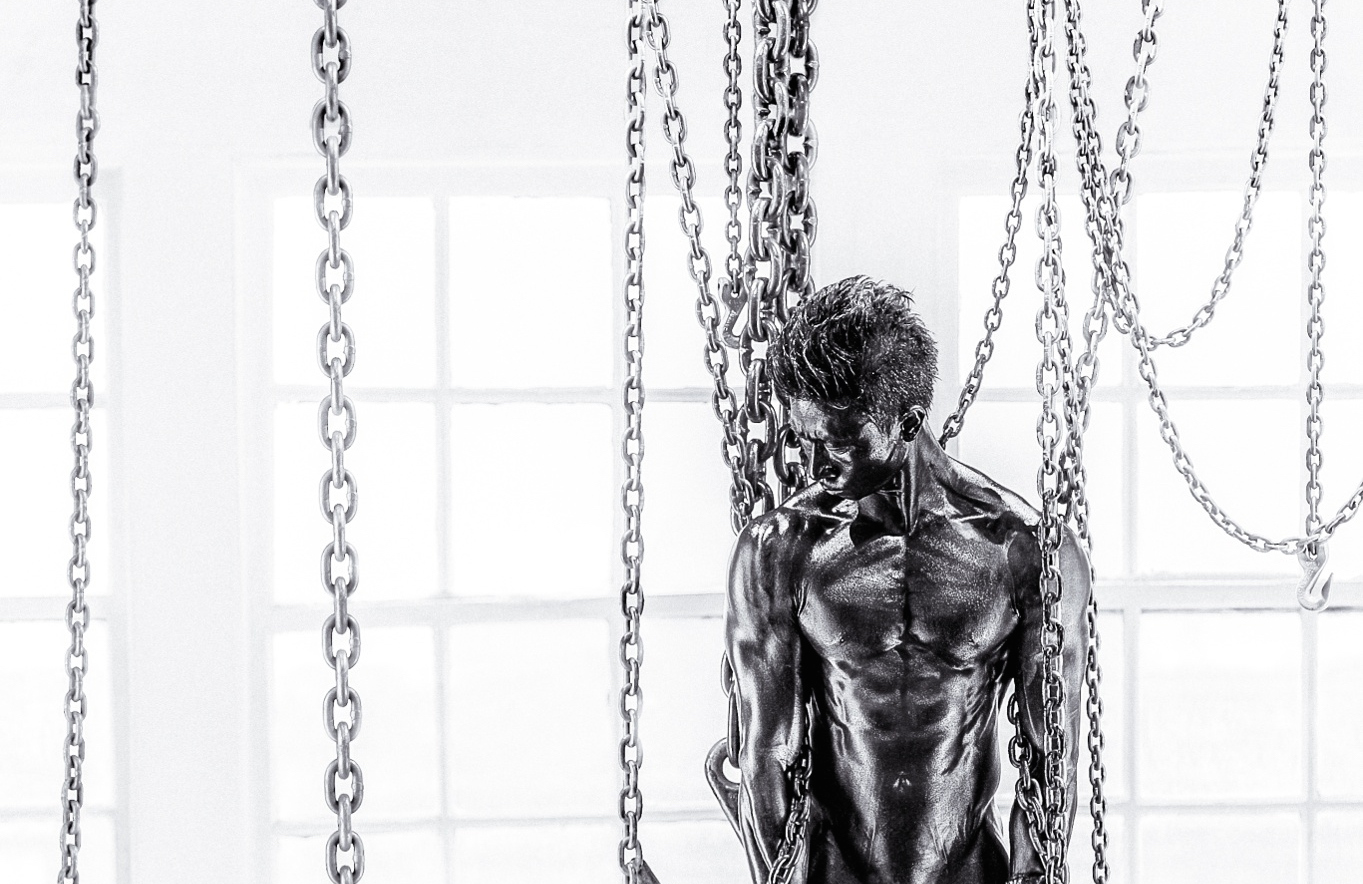 Ripped Male Stripper, Industrial Chains, and Vaseline Make for One Crazy Photo Shoot (NSFW)