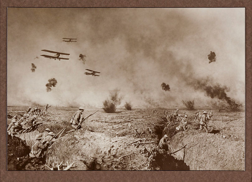 Frank Hurley, composite image of WWI