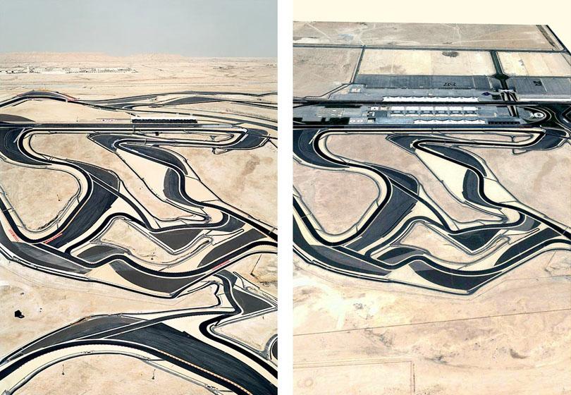 Andreas Gursky, Bahrein (composite image and original capture)