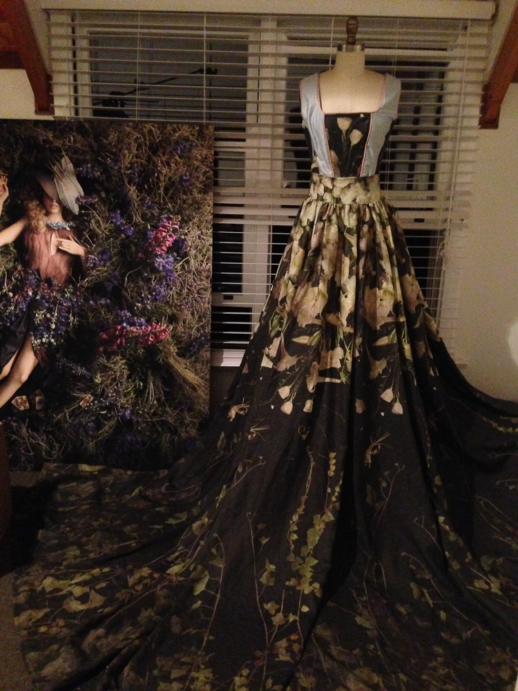 The Dress nearly completed for Into the Gloaming