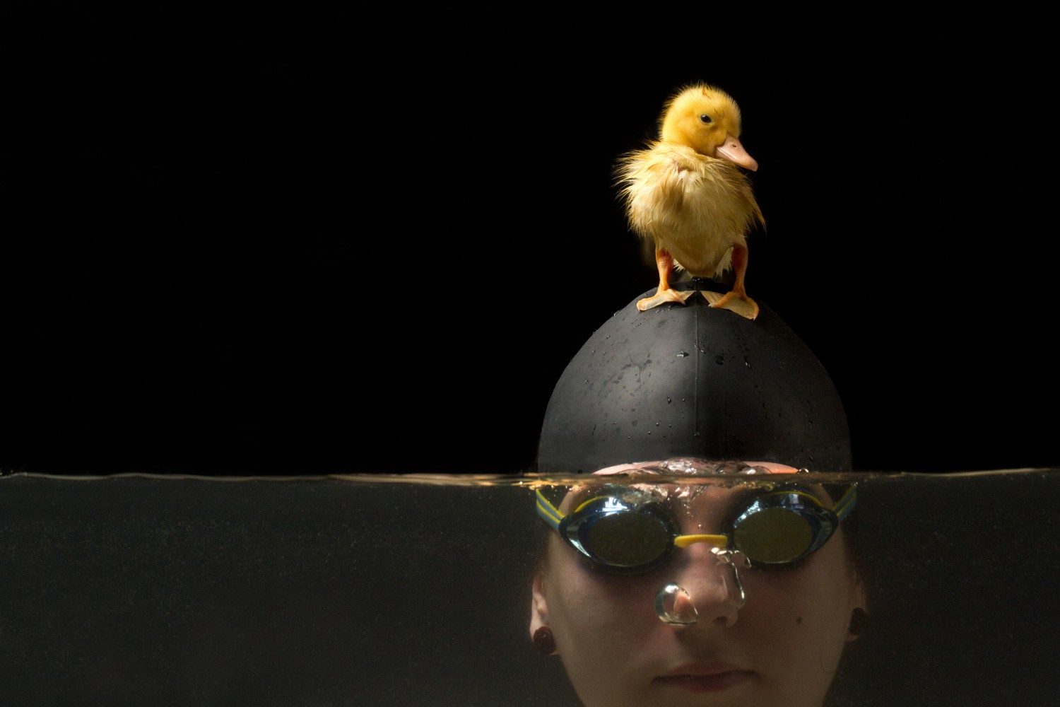 Photos Capture The Adorable Friendship Between a Swimmer & Her Duckling
