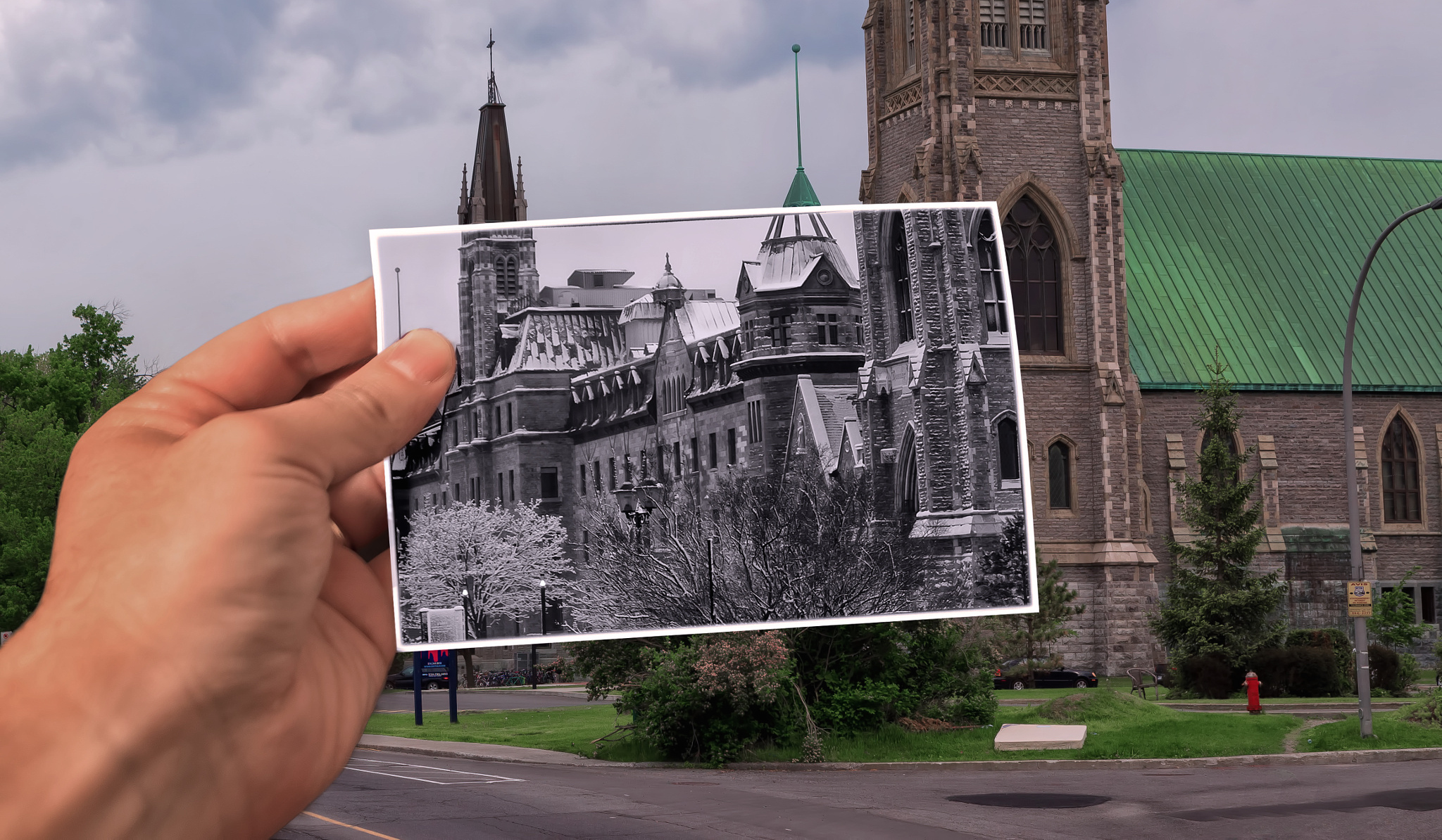 How to Fake a 'Past Vs. Present' Picture-in-Picture Photo