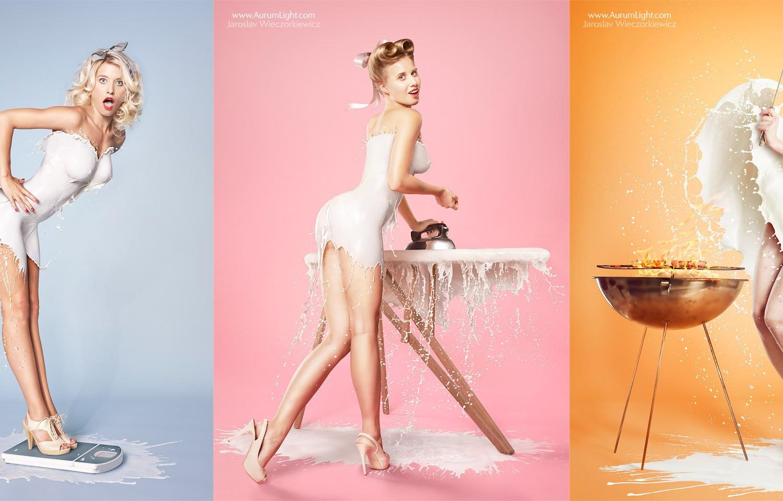 Milky PinUps: The Risqué Milk Splash Series that Took Over the Web (NSFW)