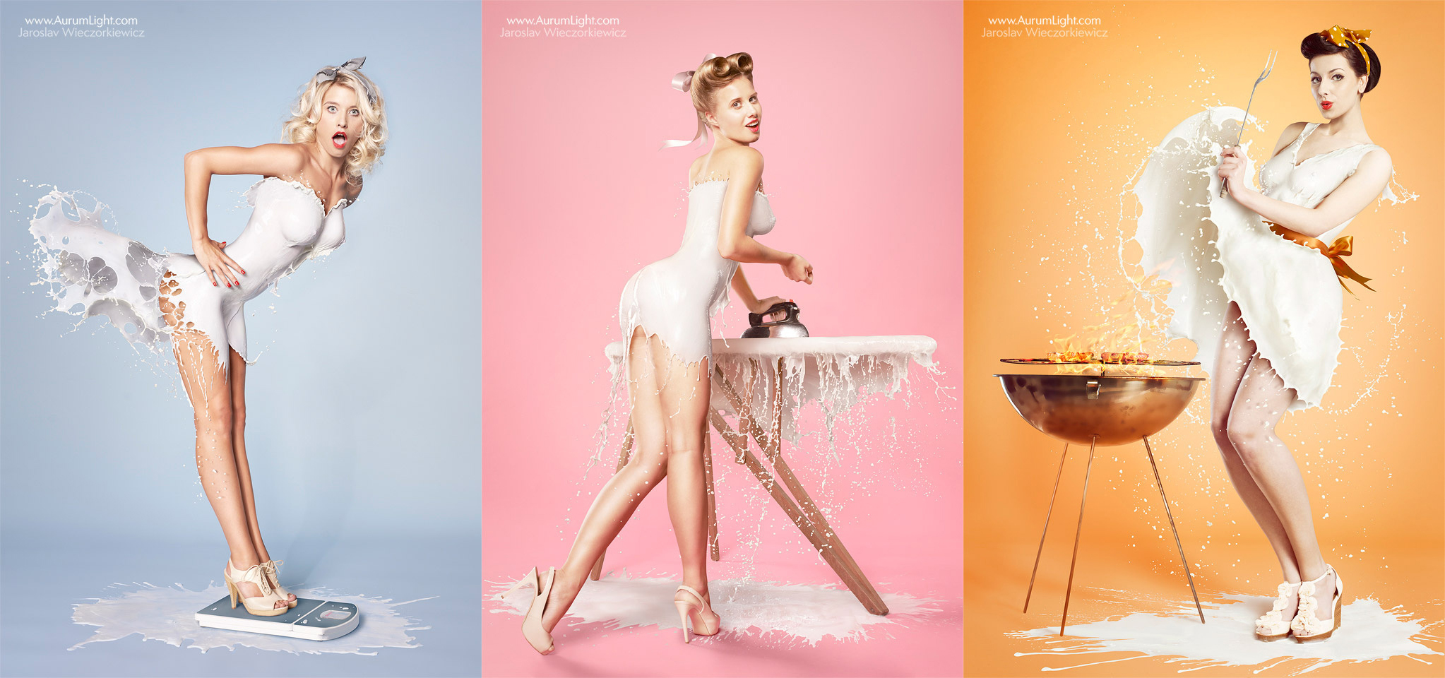 Milky PinUps: The Risqué Milk Splash Series that Took Over the Web (NSFW)