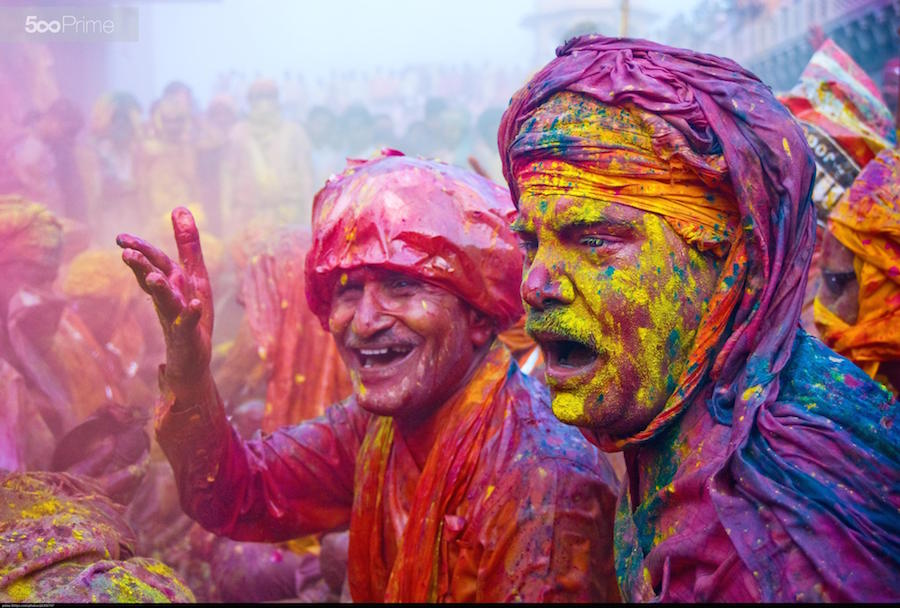 editorial photography - commercialColourful Holi Festival India
