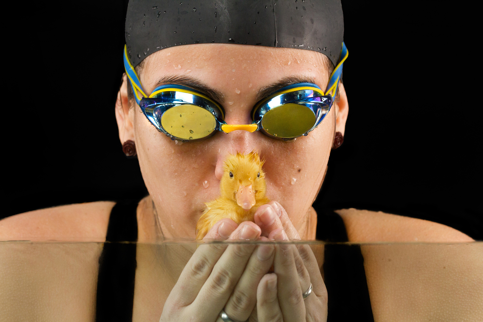 The Story & Setup Behind these Sweet Portraits of a Swimmer and Her Duckling