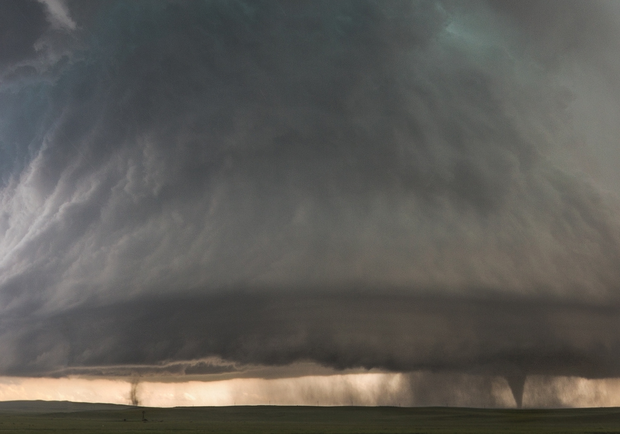 Sister Tornados Under Supercell // Simla, Colorado