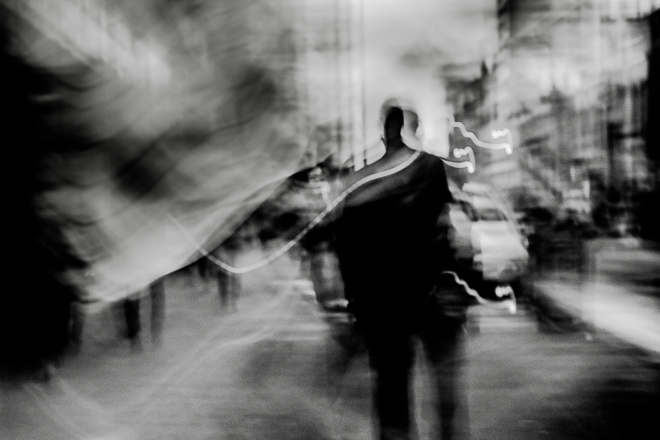Abstract street photography -Searching