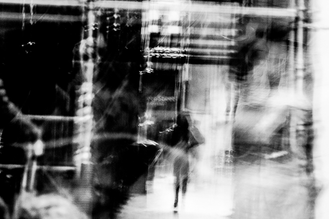 Abstract street photography -And she walked away