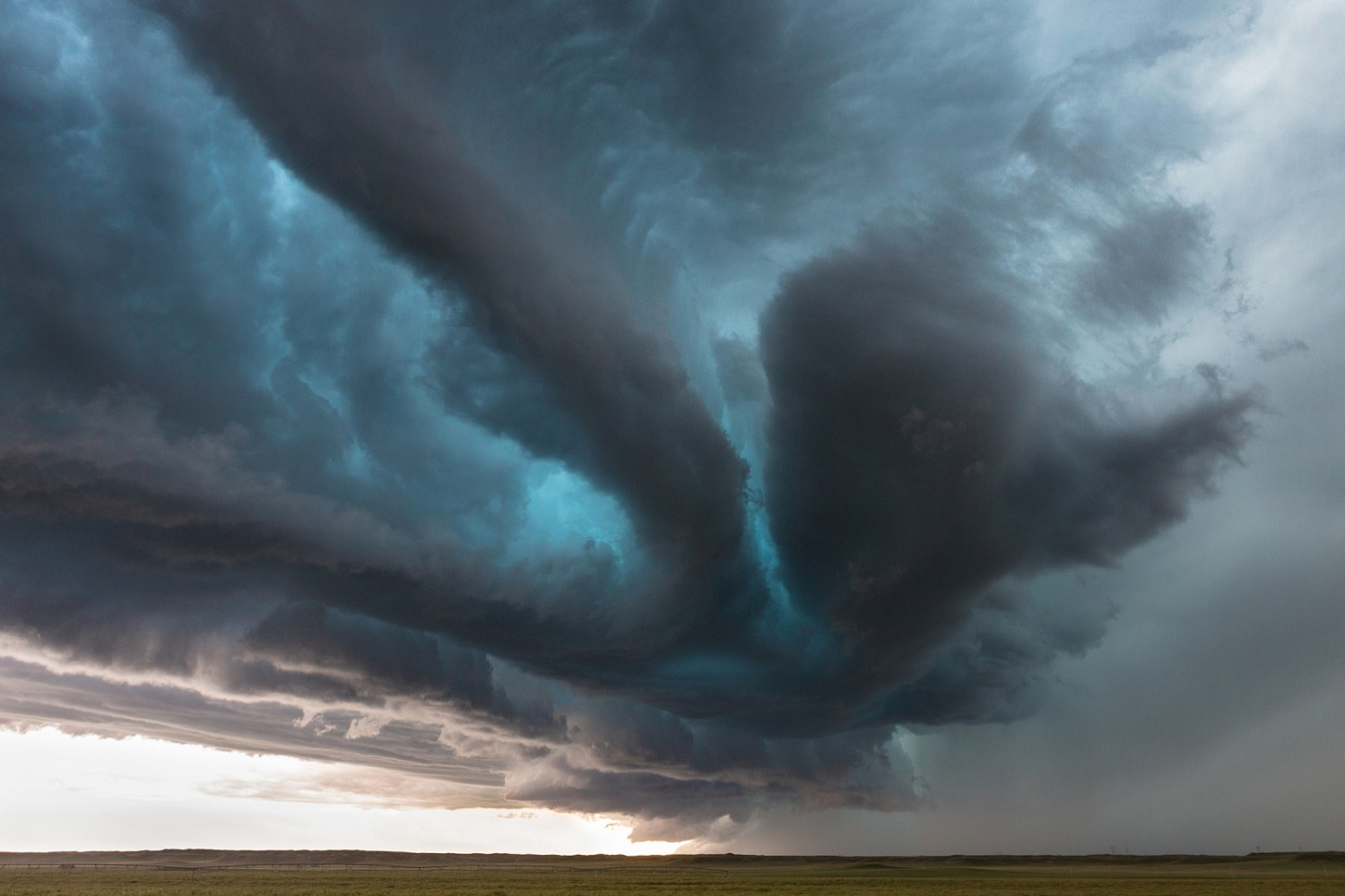 Why is This Storm Glowing Blue? Hint: It's Not Photoshop