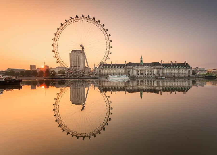 Wheel at Sunrise