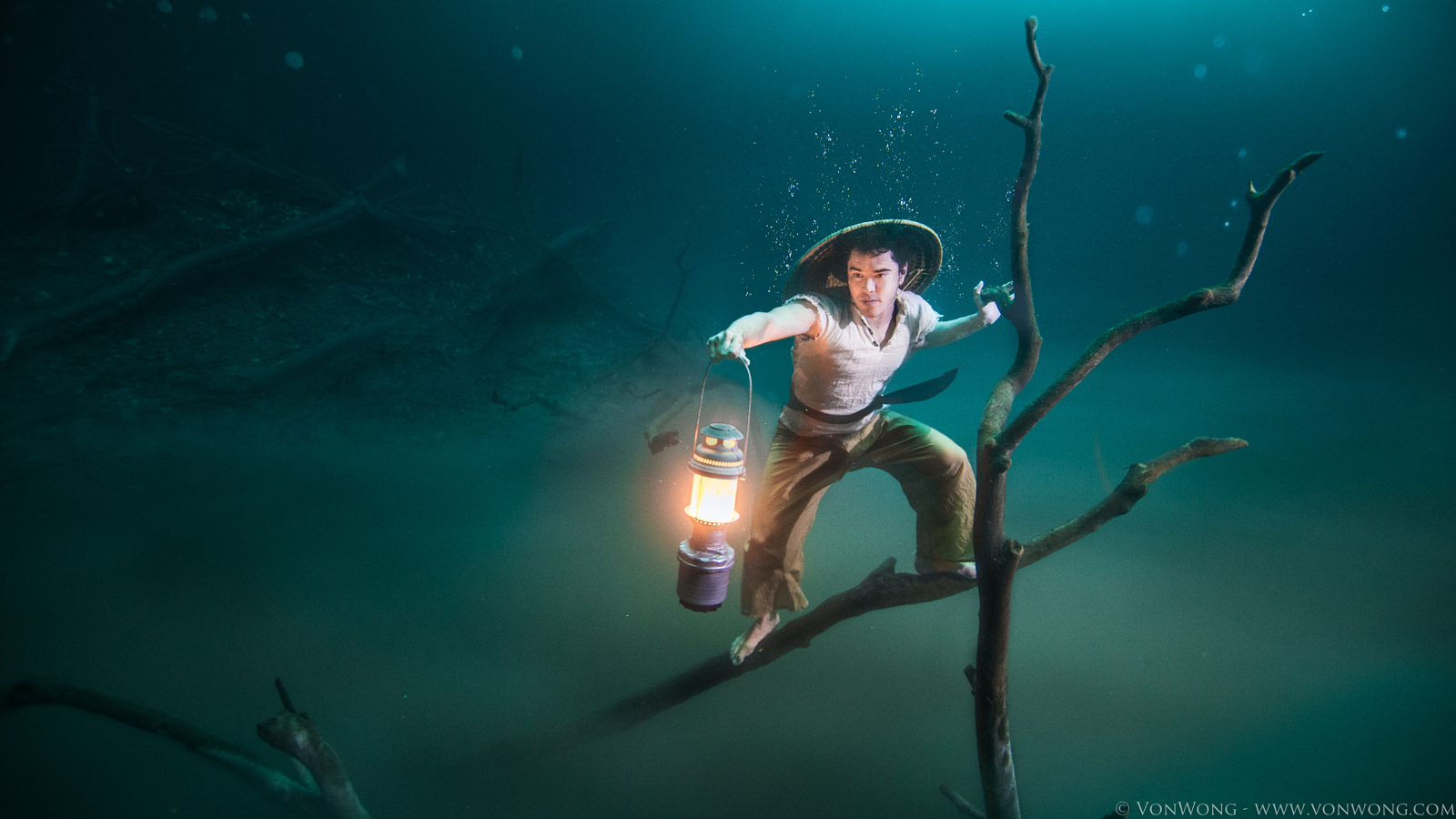 Photo Shoot on the Banks of a Toxic Underwater River