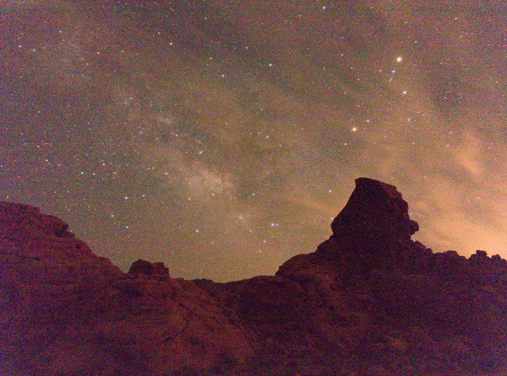 Milky Way from Valley of Fire, NV, OnePlus One, 32s, f/2, ISO 3200, RAW, pushed +2 EV