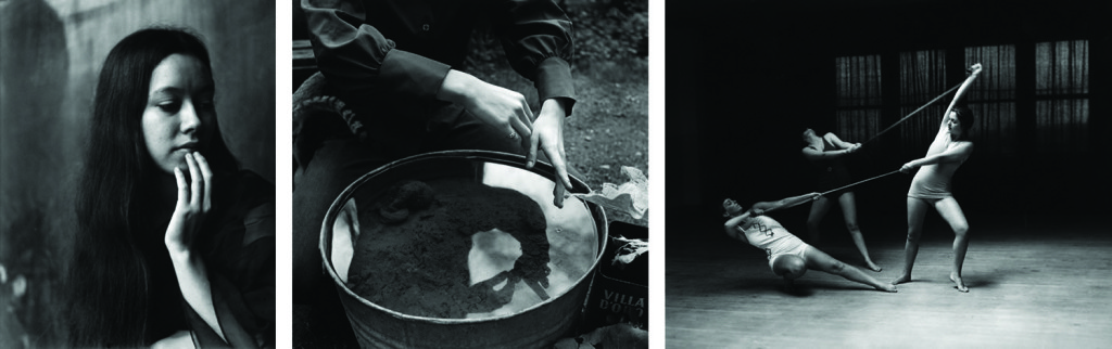 Photos by Imogen Cunningham. Left to right: Aiko. 1971. | Aiko's Hands. 1971. | Dance 3, Cornish School. 1935.