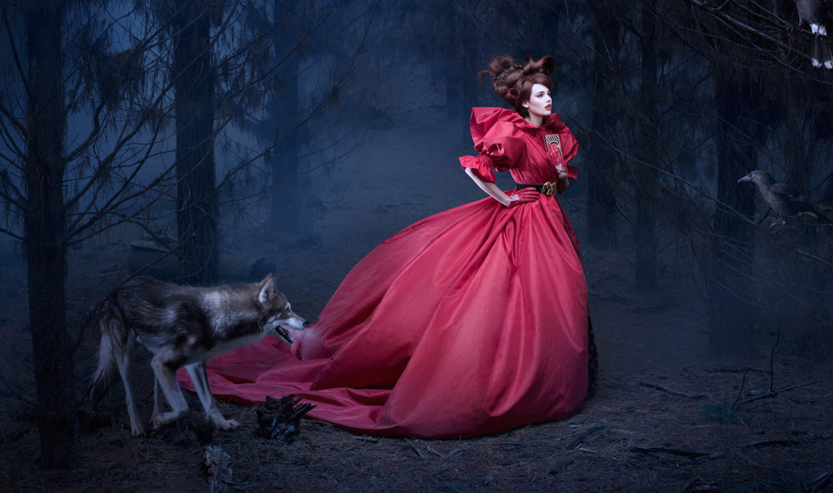 A Red Riding Hood Shoot in One of the World's Creepiest Forests