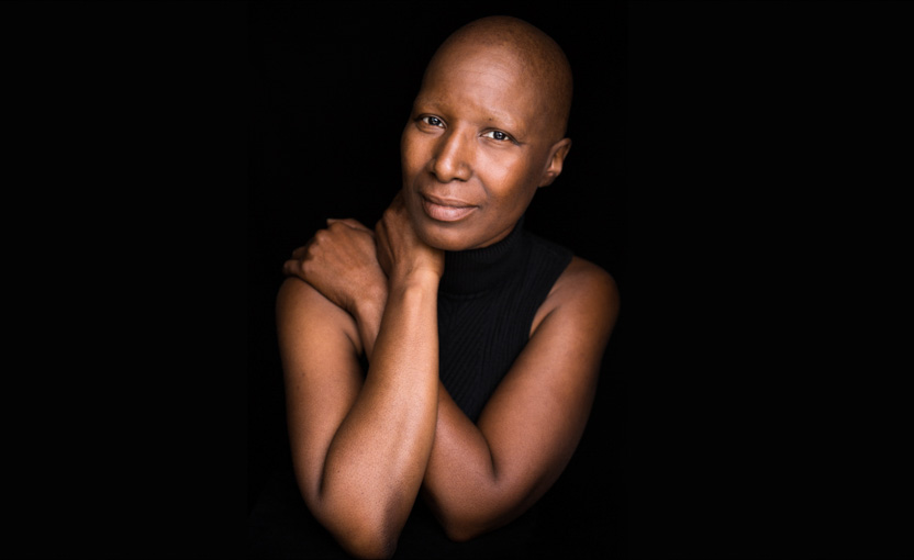 A female breast cancer patient photographed as part of Facing Chemo - a photographic project involving cancer patients undergoing chemotherapy