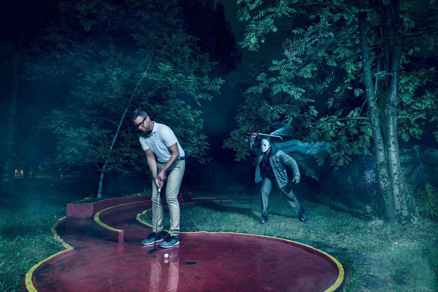 Golf and Horror: A Slightly Gory Friday the 13th Photo Shoot
