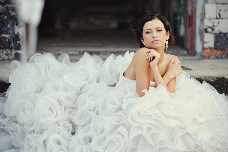 Happy, in love, beautiful bride