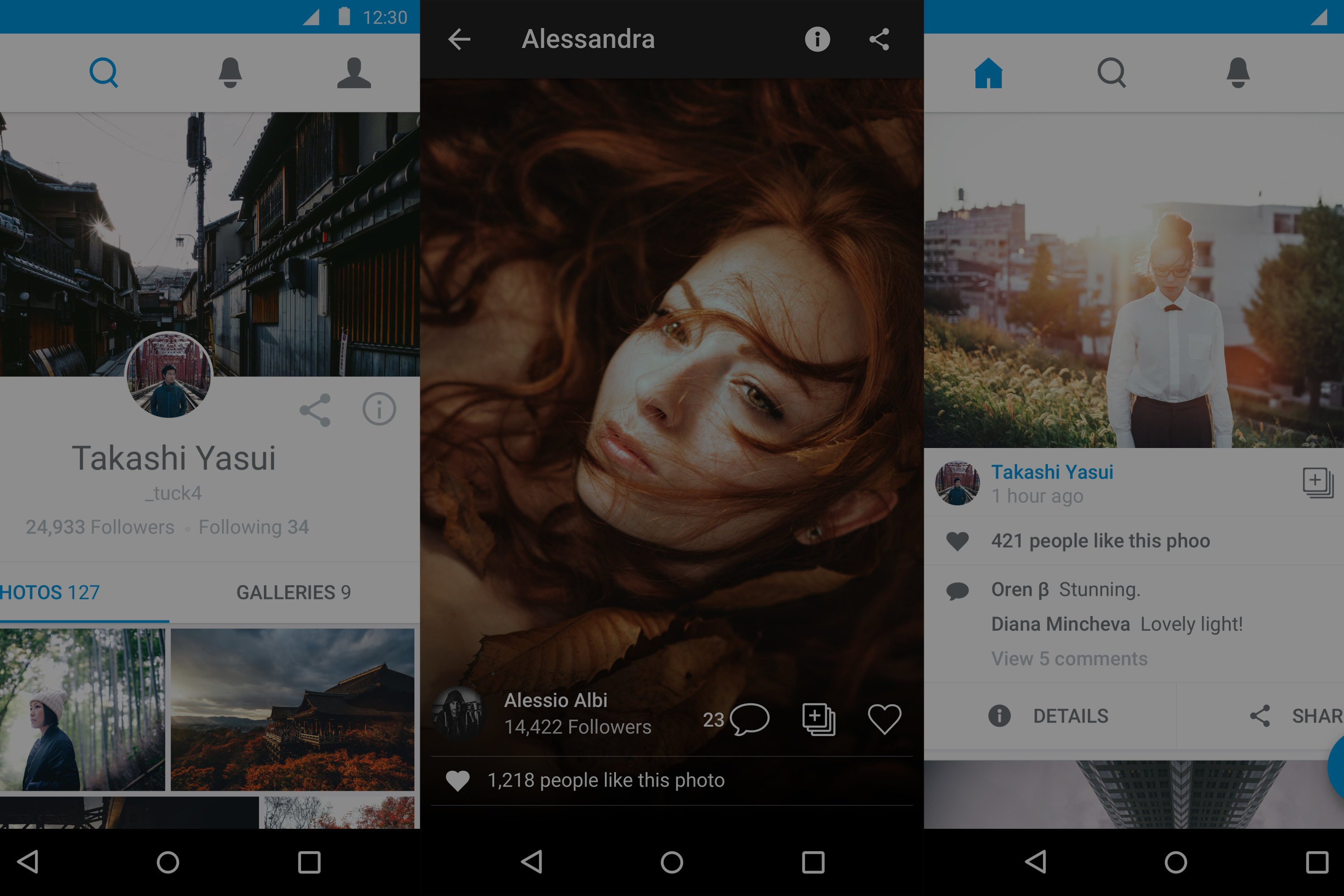 The New 500px, Now on Your Favorite Android Device