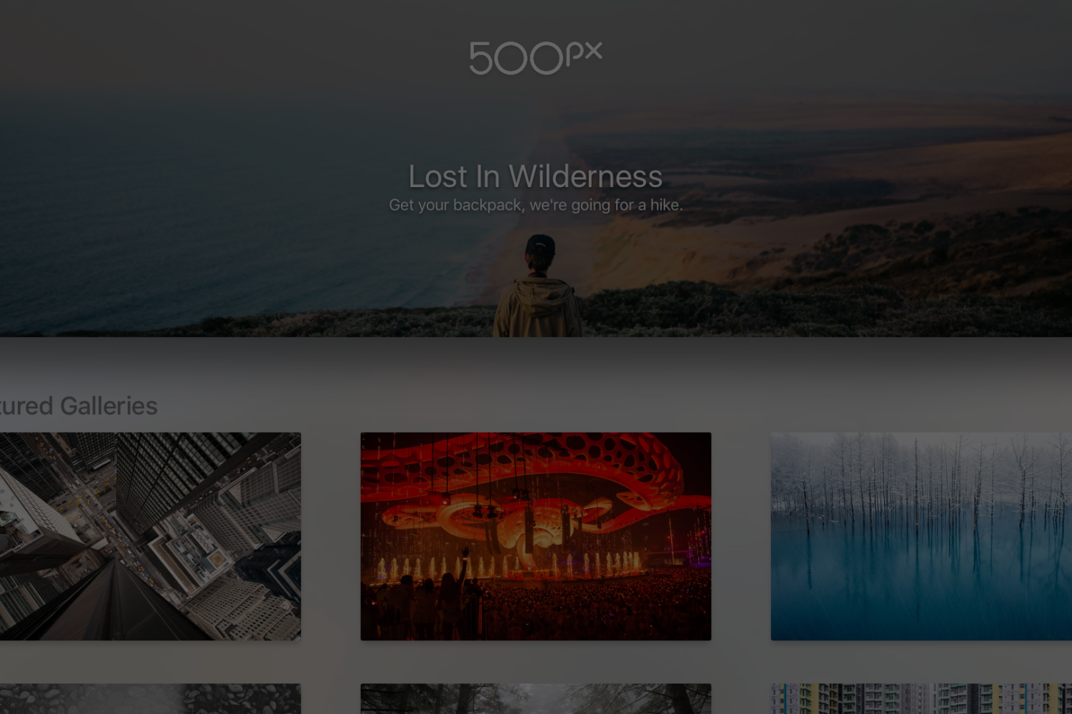 Announcing 500px for Apple TV!