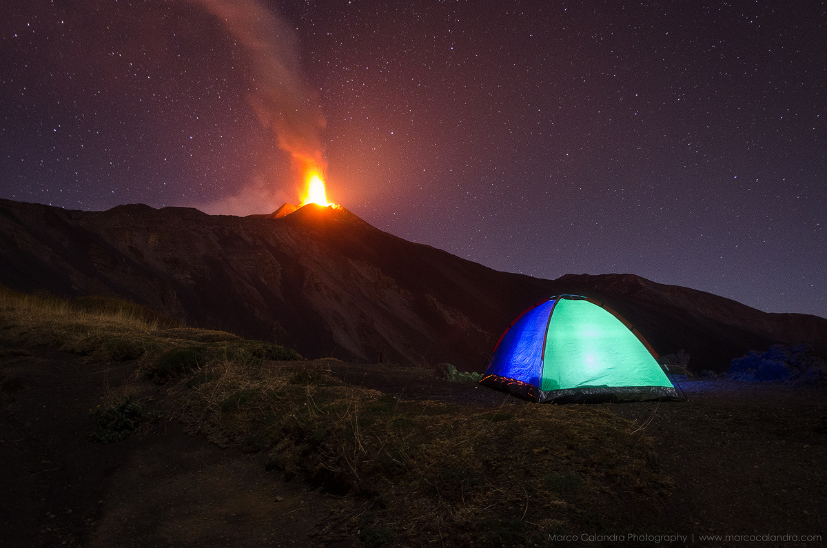 Story Behind the Shot: Camping by an Erupting Volcano