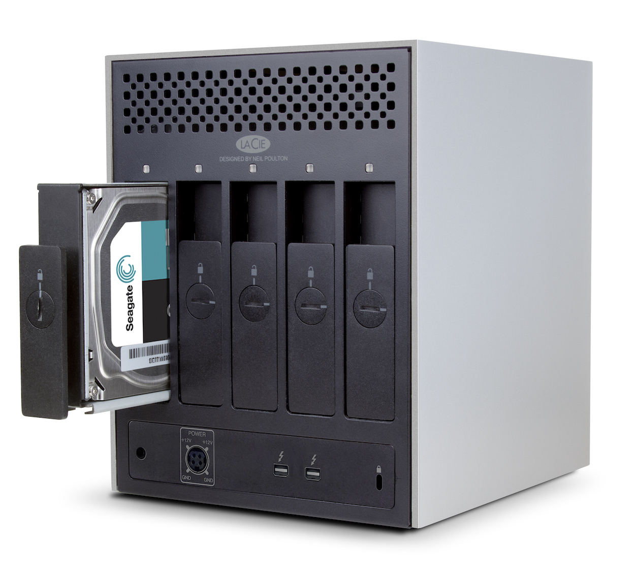 5 Hot swappable drives. If one drive crashes, simply replace the drive - no data will be lost