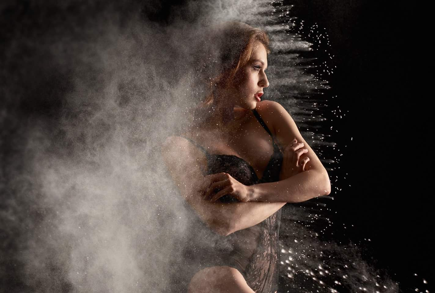 How Do You Create Flour Photos Without Messing Up the Studio? You Cheat!