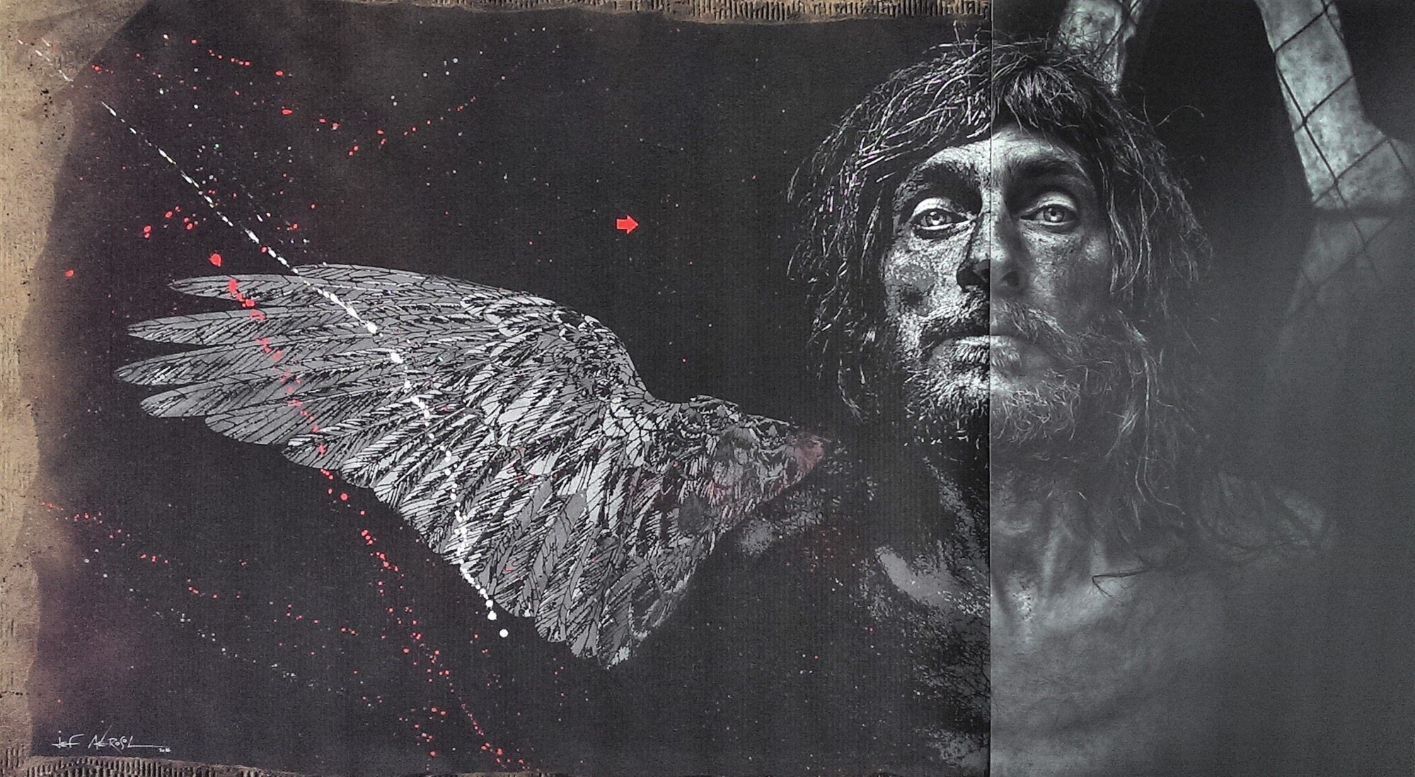 Lee Jeffries Collaborates with Famed Artist to Reveal Hidden Symbols in His Portraits