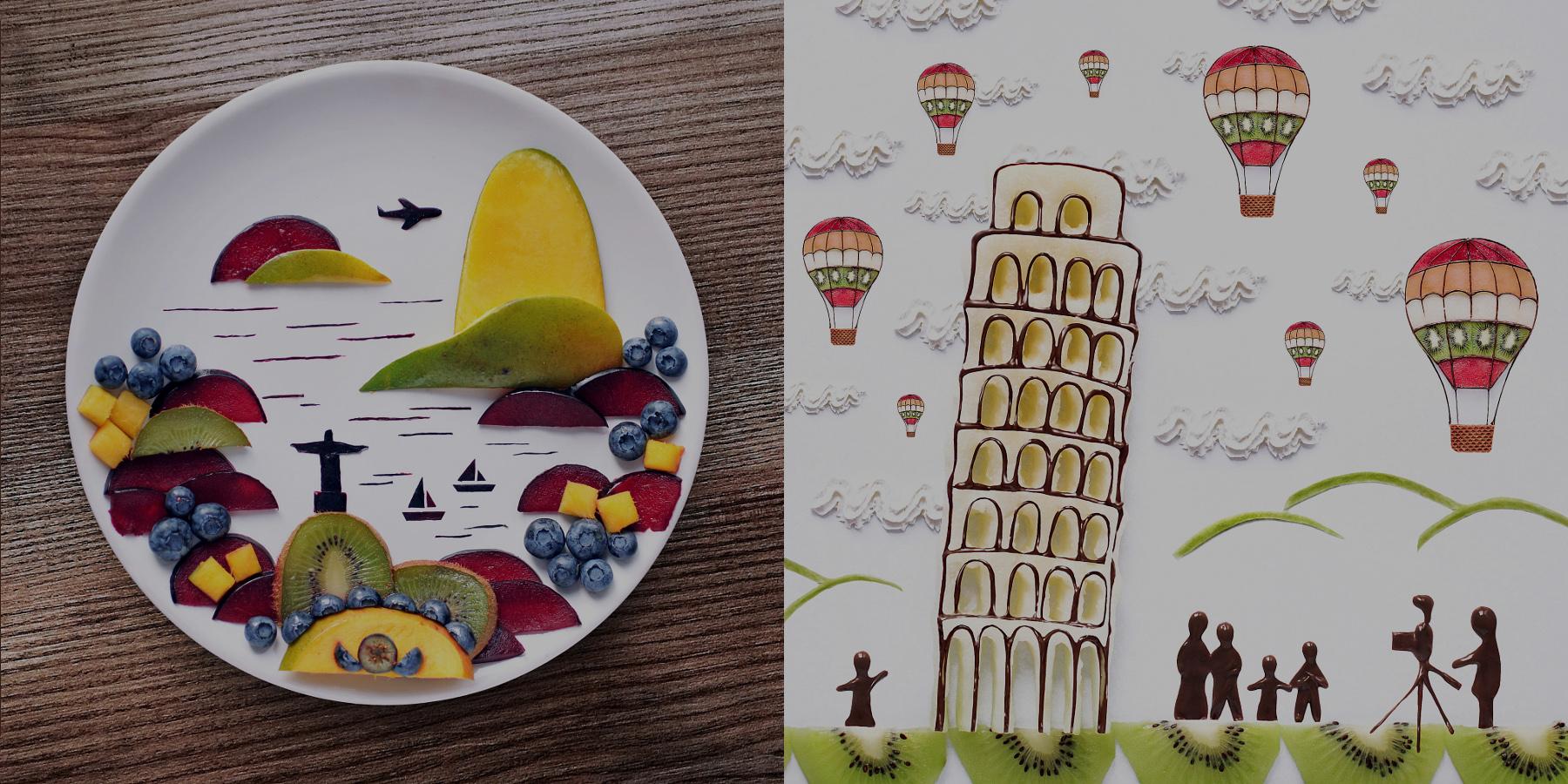The Super Creative Food Scenes and Portraits of Daryna Kossar