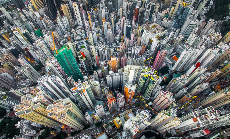 Drone Photos Show the Crazy Urban Density of Hong Kong