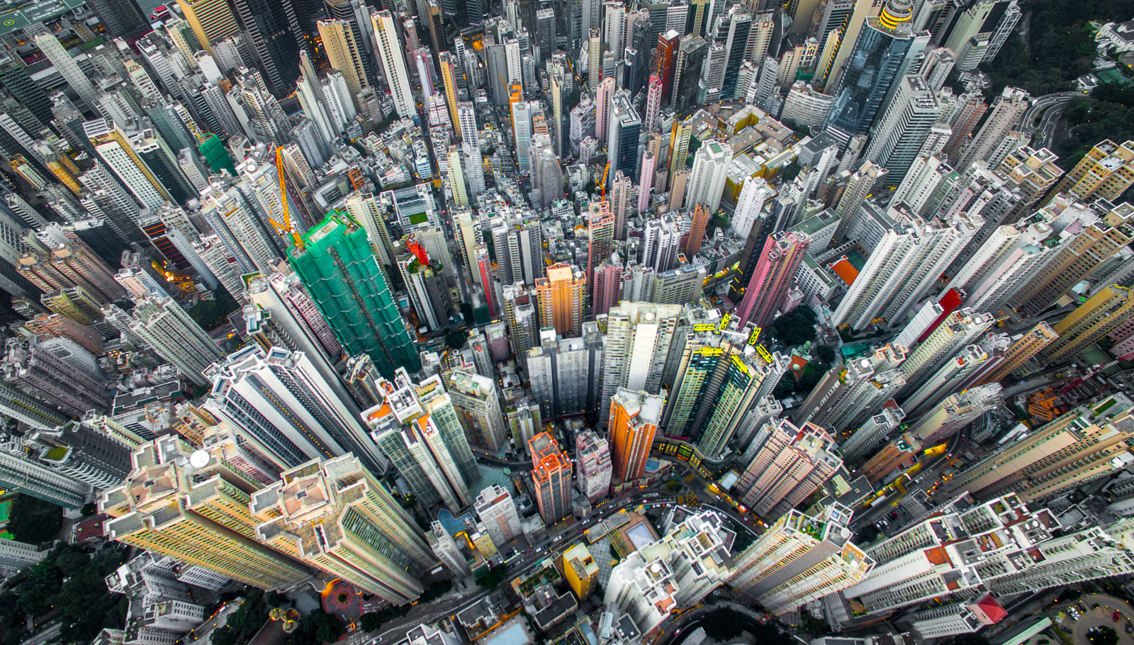 Drone Photos Show the Crazy Urban Density of Hong Kong