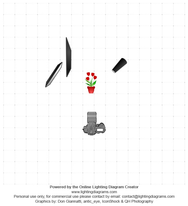 Banhmiphoto Lighting Diagram set-up